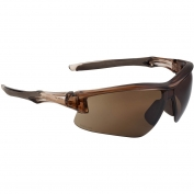 Uvex S4171XP Acadia Safety Glasses - Brown Frame - Espresso Uvextreme Plus Anti-Fog Lens