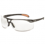Uvex S4200HS Protege Safety Glasses - Black Frame - Clear HydroShield Anti-Fog Lens