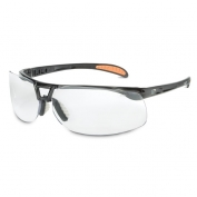 Uvex Protege Safety Glasses - Black Frame - Clear Anti-Fog Lens
