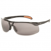 Uvex S4201HS Protege Safety Glasses - Black Frame - Gray HydroShield Anti-Fog Lens