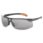 Uvex Protege Safety Glasses - Black Frame - Gray Anti-Fog Lens