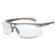 Uvex Protege Safety Glasses - Brown Frame - Clear Lens