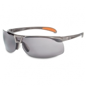 Uvex Protege Safety Glasses - Brown Frame - Gray Anti-Fog Lens