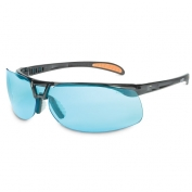 Uvex Protege XC Safety Glasses - Black Frame - Blue Anti-Fog Lens