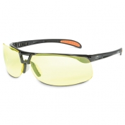 Uvex Protege XC Safety Glasses - Black Frame - Amber Anti-Fog Lens