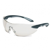 Uvex Ignite Safety Glasses - Black Temples - Indoor/Outdoor Mirror Lens