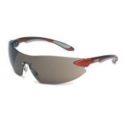 Uvex Ignite Safety Glasses - Red Temples - Gray Anti-Fog Lens
