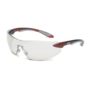 Uvex Ignite Safety Glasses - Red Temples - Indoor/Outdoor Mirror Lens