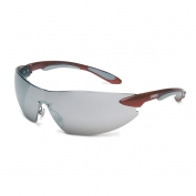 Uvex Ignite Safety Glasses - Red Temples - Silver Mirror Lens