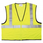 River City VCL2MLZ Economy Type R Class 2 Mesh Safety Vest with Zipper - Yellow/Lime