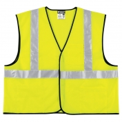 River City VCL2SL Economy Class 2 Solid Safety Vest - Yellow/Lime
