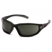 Venture Gear VGSB122TB Ocoee Eyewear - Black/Charcoal Frame - Smoke Green Anti-Fog Lens