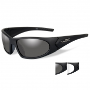 Wiley X Romer 3 Safety Glasses - Matte Black Frame - Grey & Clear Lenses