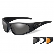 Wiley X Romer 3 Safety Glasses - Matte Black Frame - Grey, Clear & Rust Lenses