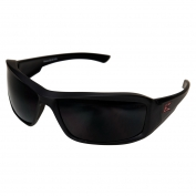 Edge XB136 Brazeau Designer Safety Glasses - Black Rubberized Frame - Smoke Lens