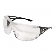 Edge XF111-L Ossa Safety Glasses - Black OTG Frame - Clear Lens