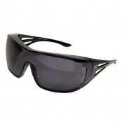 Edge XF116-L Ossa Safety Glasses - Black OTG Frame - Smoke Lens