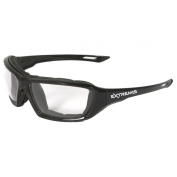 Radians Extremis Safety Glasses - Smoke Foam Lined Frame - Clear Anti-Fog Lens