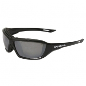 Radians Extremis Safety Glasses - Smoke Foam Lined Frame - Silver Mirror Anti-Fog Lens