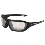 Radians Extremis Safety Glasses - Smoke Foam Lined Frame - Indoor/Outdoor Anti-Fog Mirror Lens