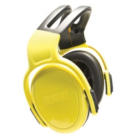 MSA left/Right 28dB Headband Earmuffs - Yellow