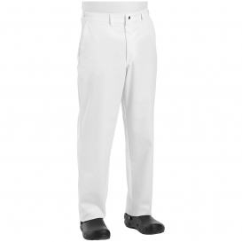 Chef Designs 2020 Men\'s Cook Pants with Zipper Fly - White