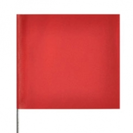 Presco Plain Wire Staff Marking Flags - 2x3 - 15 inch Staff - Red
