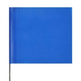 Presco Plain Wire Staff Marking Flags - 2x3 - Blue - 18 inch Staff - 100 Bundle