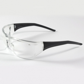 Bouton Tranzmission Safety Glasses - Black Temples - Clear Anti-Fog Lens