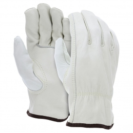 MCR Safety 32113 Industry Grade Unlined Cow Leather Driver Gloves - Keystone Thumb