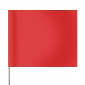 Presco Plain 4 inch x 5 inch with 18 inch Staff - Red