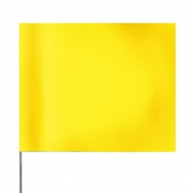 Presco Plain 4 inch x 5 inch with 21 inch Staff - 100/Bundle - Yellow Glo