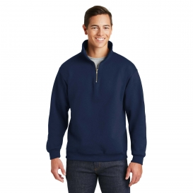 Jerzees 4528M Super Sweats NuBlend 1/4-Zip Sweatshirt with Cadet Collar - Navy