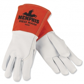 Memphis 4840 Red Ram Grain Goatskin Welders Gloves - 5\\\
