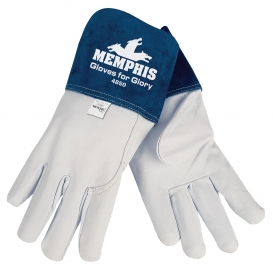 Memphis 4850 Gloves for Glory Premium Grain Goatskin Leather - MIG/TIG Welders Gloves - White