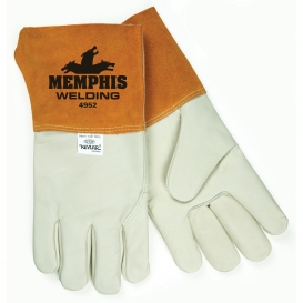Memphis 4952 Select Grade Grain Cowhide Leather Welders Gloves - MIG/TIG - 4.5\\\