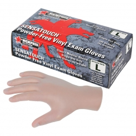MCR Safety 5010 SensaTouch Disposable Vinyl Exam Gloves - 5 Mil - Powder Free - Clear