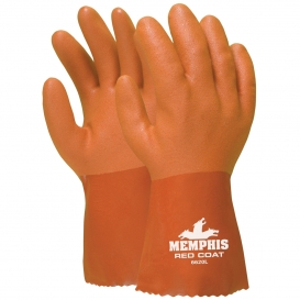 Memphis 6620 Redcoat Seamless Double Dipped PVC Coated Gloves - 10\\\
