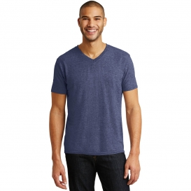 Anvil 6752 Tri-Blend V-Neck Tee - Heather Blue