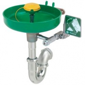Wall Mounted Eye Wash Station with Bracket (Trap Not Included)