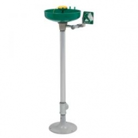Pedestal Mounted Eye Wash Station with Floor Flange