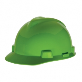 MSA 815565 V-Gard Hard Hat - Fas-Trac Suspension - Bright Lime Green
