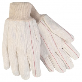 MCR Safety 9018CDPC Double Palm Gloves - 18 oz. Corded Nap-In Cotton Blend - Knit Wrist