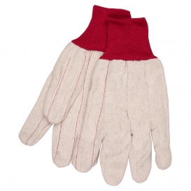 MCR Safety 9018CRPC Double Palm Gloves - Nap-In Polyester/Cotton Blend - White