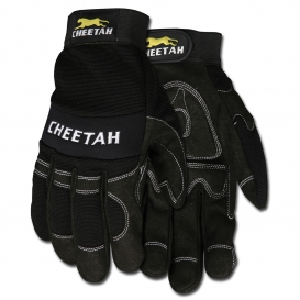 Memphis 935CH Cheetah Multi-Task Gloves - Synthetic Leather Palm - Velcro Wrist Closure