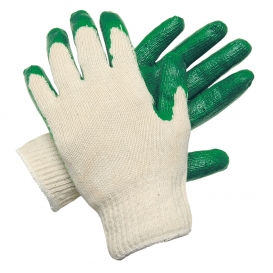 Memphis 9681S Latex Coated Palm & Fingertip Gloves - 10 Gauge Cotton/Polyester Shell - Small