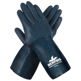 Memphis 9685 PredaStretch Double Dipped Nitrile Coated Palm Gloves -  13 Gauge Seamless Cotton
