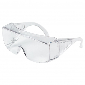MCR Safety 9810XL 98 Safety Glasses - Clear Coated Lens - Fits Over Prescription Glasses