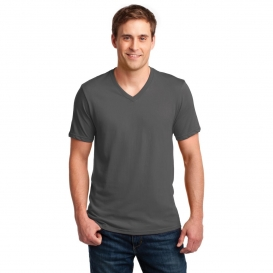 Anvil 982 100% Ring Spun Cotton V-Neck T-Shirt - Charcoal