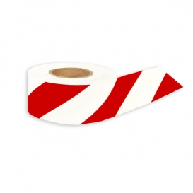 Presco Aisle Hazard Marking Tape - 36 Yards - Red/White Striped